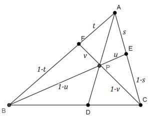 チェバの定理用図形(ベクトル)