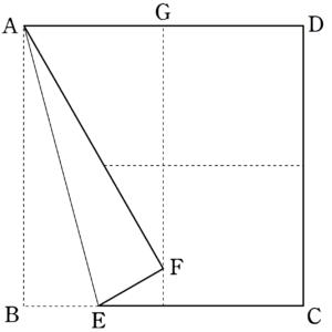 十字への折り目1