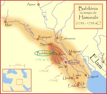 バビロニアの位置