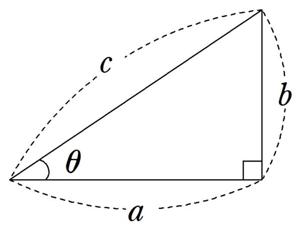 三平方の定理 角度つき