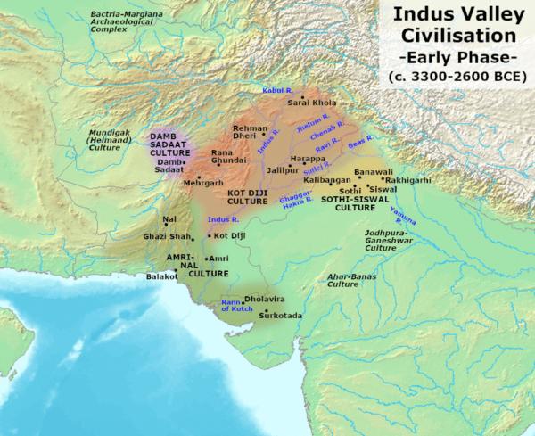 インダス文明 地図