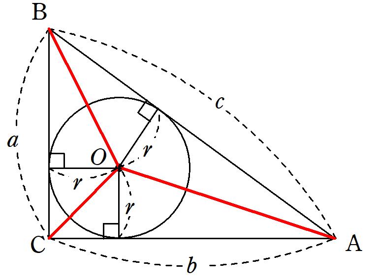 直角三角形の3分割