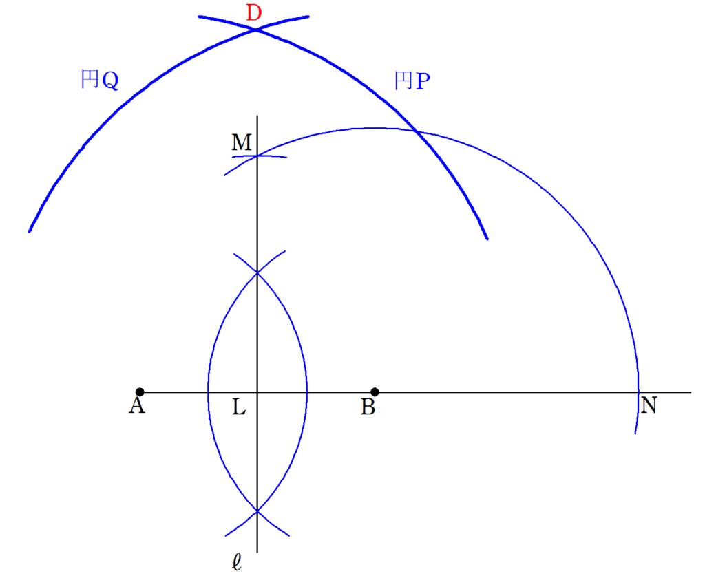 <図4>  正五角形の作図4